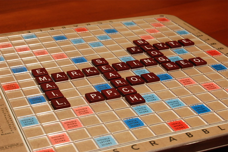 Rich Brooks Web Marketing Scrabble via Flickr